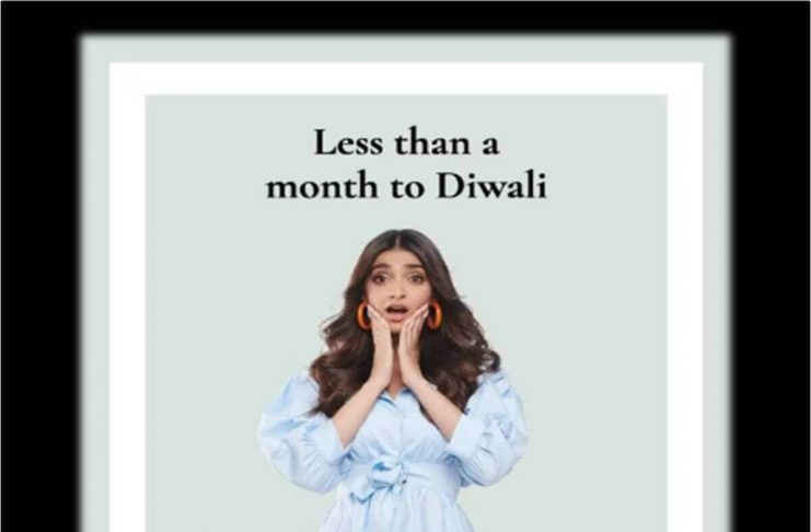 less than a month to diwali